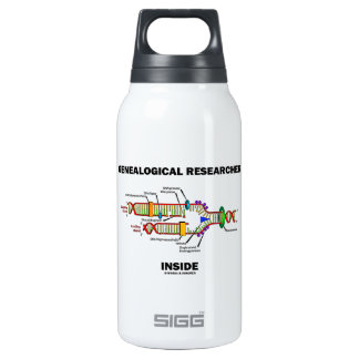 Genealogical Researcher Inside (DNA Replication) Insulated Water Bottle