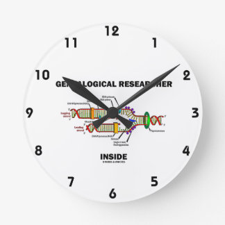 Genealogical Researcher Inside (DNA Replication) Round Clock