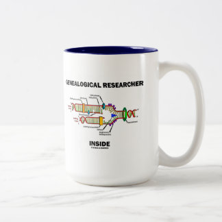 Genealogical Researcher Inside (DNA Replication) Two-Tone Coffee Mug