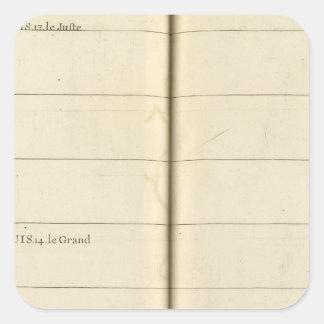 Genealogical Table, France 2 Square Sticker