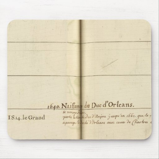 Genealogical Table, France Mouse Pad