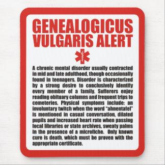 Genealogicus vulgaris alfombrilla de ratón