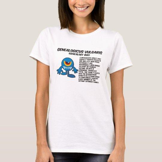 Genealogicus Vulgaris (Genealogy Bug) T-Shirt