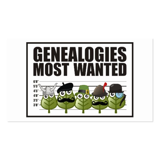 Genealogies Most Wanted Business Card