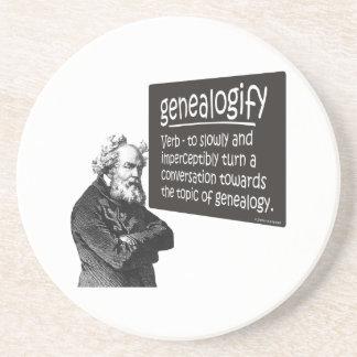 Genealogify Beverage Coasters