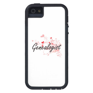 Genealogist Artistic Job Design with Hearts iPhone 5 Cover