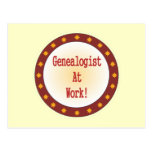 Genealogist At Work Postcard