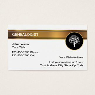 Genealogist Business Cards