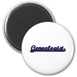Genealogist Classic Job Design 2 Inch Round Magnet
