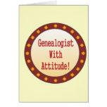 Genealogist con actitud felicitación
