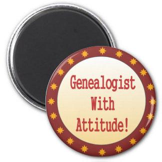 Genealogist con actitud iman para frigorífico