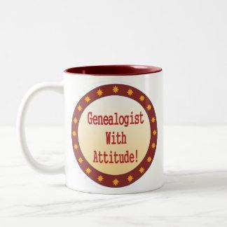 Genealogist con actitud taza de café