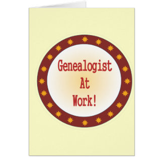 Genealogist en el trabajo felicitaciones
