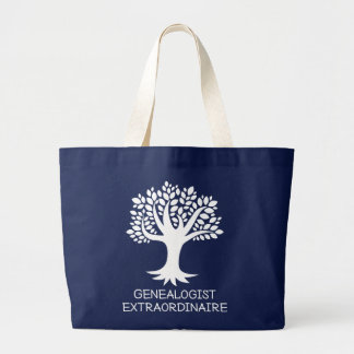 Genealogist Extraordinaire Family History Gift Large Tote Bag