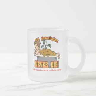 Genealogist Frosted Glass Coffee Mug