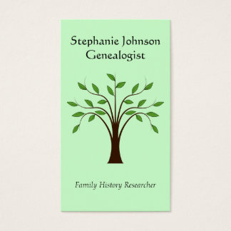 Genealogist Genealogy Tree Custom Business Card 1