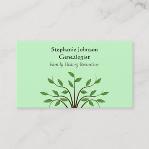 Tree service business cards templates zazzle genealogist genealogy tree custom business card 2 colourmoves