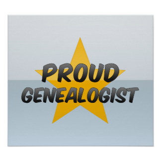 Genealogist orgulloso posters