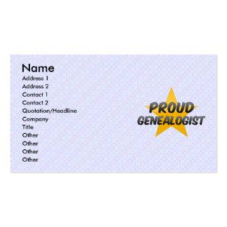 Genealogist orgulloso plantilla de tarjeta personal