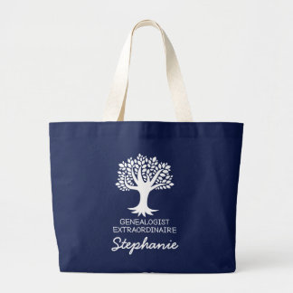 Genealogist Personalized Family History Gift Large Tote Bag