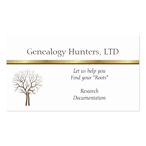GENEALOGIST  RESEARCHERS BUSINESS CARDS