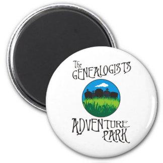 Genealogists Adventure Park 2 Inch Round Magnet