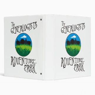 Genealogists Adventure Park 3 Ring Binder