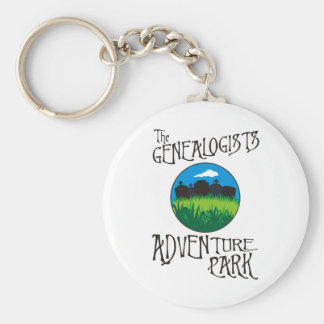 Genealogists Adventure Park Basic Round Button Keychain