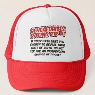 Genealogists Dating Tip #1 Trucker Hat