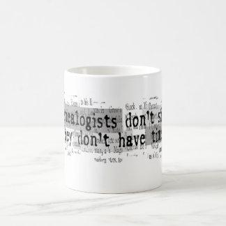 GENEALOGISTS DON'T SIN COFFEE MUG
