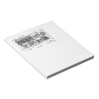Genealogists Don't Sin Notepad