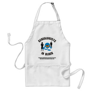 Genealogists In Black Adult Apron