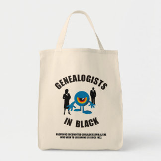 Genealogists In Black Grocery Tote Bag