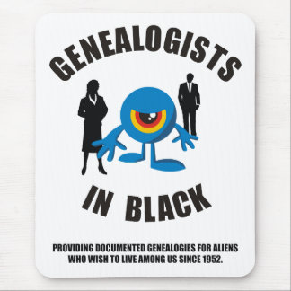 Genealogists In Black Mouse Pad