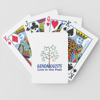 GENEALOGISTS LIVE IN THE PAST BICYCLE PLAYING CARDS