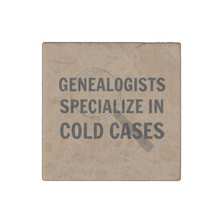Genealogists Magnet (Brown) Stone Magnet