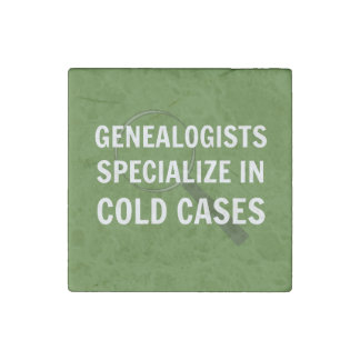 Genealogists Magnet (Green) Stone Magnet