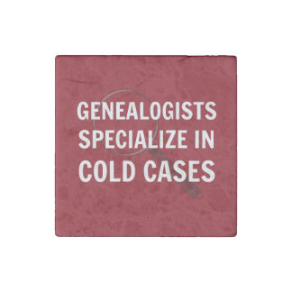 Genealogists Magnet (Red) Stone Magnet