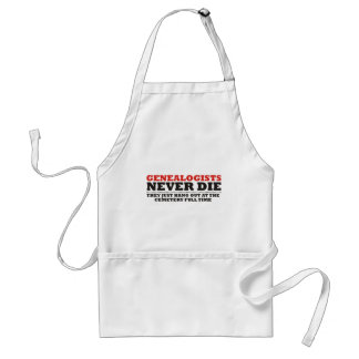 Genealogists Never Die Adult Apron