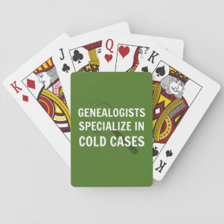 Genealogists Playing Cards
