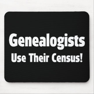 Genealogists Use Their Census Mouse Pad
