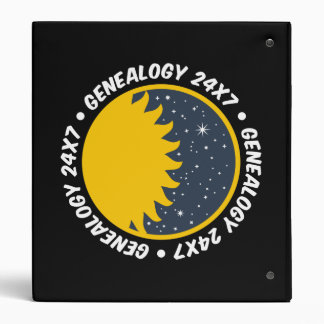 Genealogy 24x7 3 ring binder
