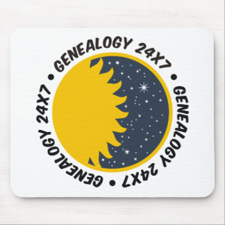 Genealogy 24x7 mouse pad