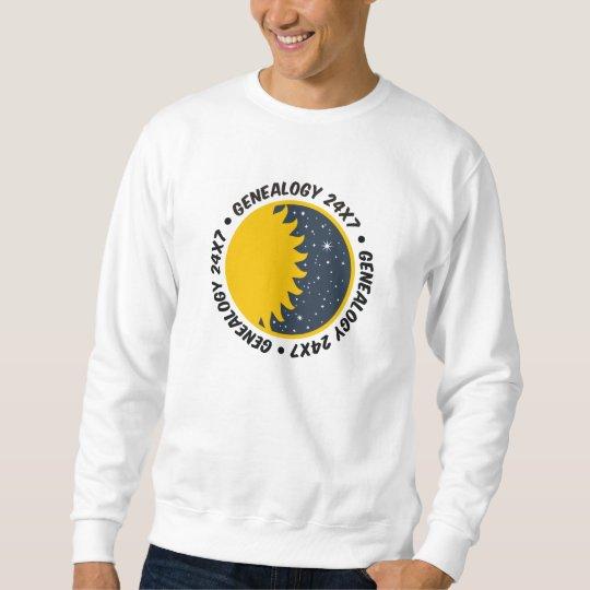 Genealogy 24x7 sweatshirt