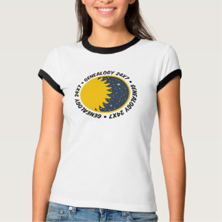 Genealogy 24x7 t shirt