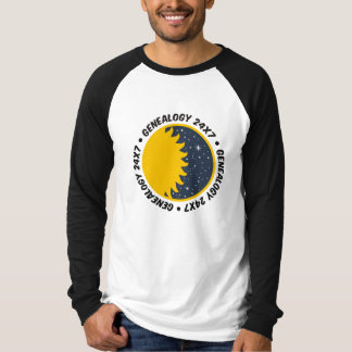 Genealogy 24x7 tee shirt