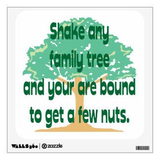 Genealogy - A Few Nuts Room Sticker