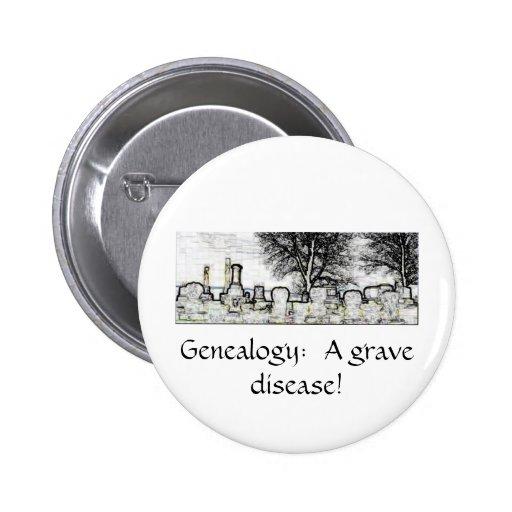 GENEALOGY:  A GRAVE DISEASE PINBACK BUTTON