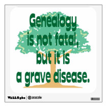 Genealogy - A Grave Disease Wall Sticker
