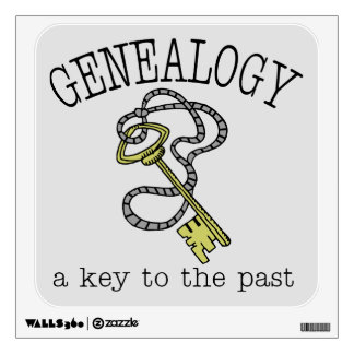 Genealogy - A Key To The Past Wall Decal
